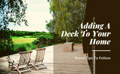 Adding A Deck To Your Home